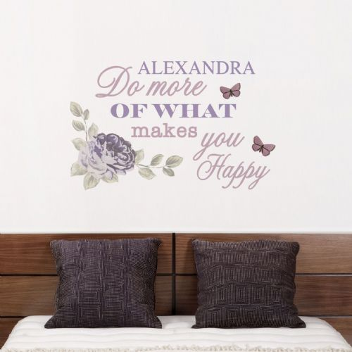 Personalised Secret Garden Wall Decal Art